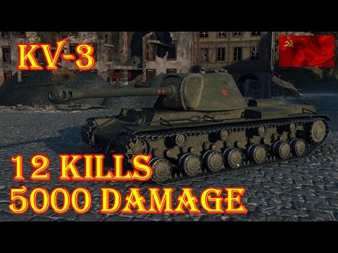 KV-3  12 KILLS, 5000 DAMAGE  Himmelsdorf  World of Tanks