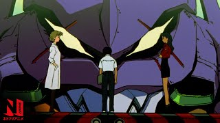 Neon Genesis Evangelion English Dub   Netflix Anime Clip: Get in the Robot, Shinji