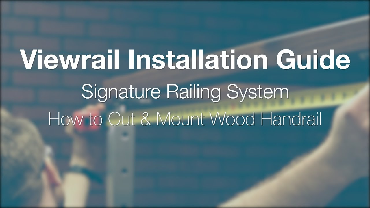 How to Cut and Mount Handrail