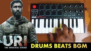 URI Drum Beat Bgm    Cover By Raj Bharath   Shashwat Sachdev   Vicky Kaushal  Yami Gautam