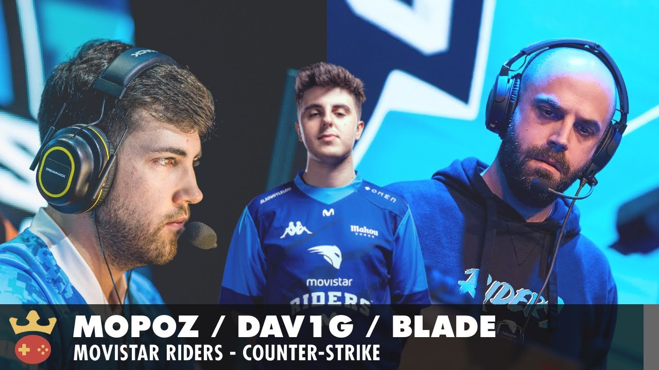 Video of Interview with mopoz, dav1g, and bladE from Movistar Riders at IEM Fall 2021