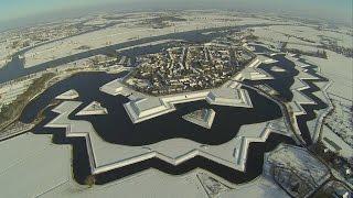 Waalwijk en Heusden in de sneeuw vanuit de lucht
