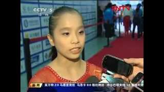 Media interview with Yao Jinnan, Huang Qiushuang & Feng Zhe after FIG Artistic Gymnastics World Cup