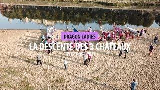 Les Dragons Ladies à la descente des 3 châteaux sur la Loire