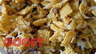 How To Make Gooey Chex Mix Recipe   Snack   Six Sisters Stuff