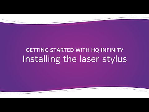 HQ Infinity - Installing the Laser Stylus