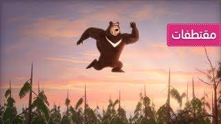 ماشا والدب - نطاطة من أجل الدب!🤸♂️ - النينجا المشاكسة🦸♀️🦸♂️ (الحلقة  51)