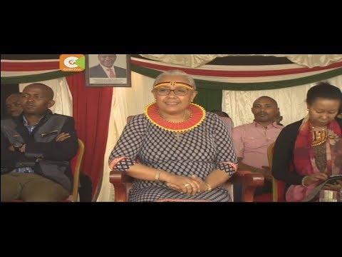 Margaret Kenyatta campaigns for Uhuru re-election in West Pokot