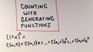 Please considering being my patron! https://www.patreon.com/patrickjmtIn this video, I show a few basic examples of how generating functions can be used for counting purposes when there are different classes of objects, but there many identical types within each class of object.