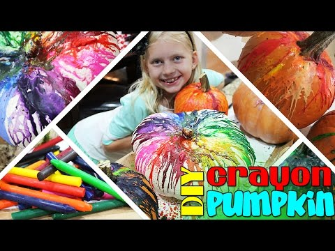DIY Melted Crayon Drip Pumpkins