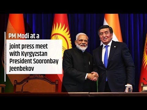 PM Modi's remarks at joint press meet with Kyrgyzstan President