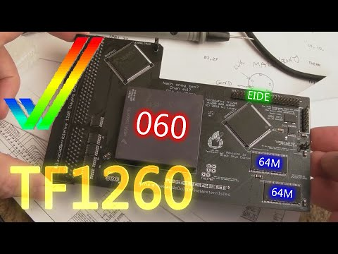 Commodore Amiga TF1260 060 CPU Accelerator + 128MB + EIDE (For the A1200)