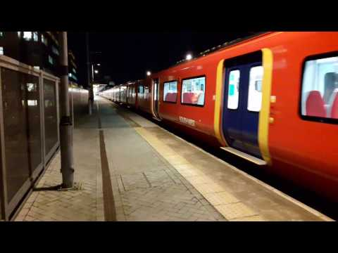 Southwest Trains 707006 & 707004 depart Reading on test run …
