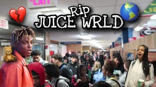 Blasting JUICE WRLD In School Hallways!!🌎