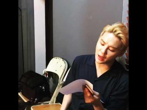 [CJES Instagram] 160615 Junsu singing Lean on Me 'Lucky Romance' OST