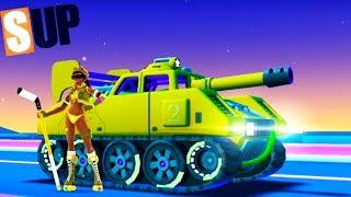 SUP Multiplayer Racing НОВЫЕ ТАЧКИ танк и Интересные СОБЫТИЯ игра про машинки ВИДЕО ДЛЯ ДЕТЕЙ