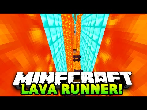 Minecraft RUN FROM LAVA PARKOUR! (Lava Runner) w/PrestonPlayz & The Pack!