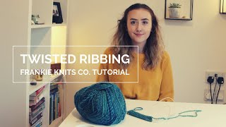 Twisted Rib Tutorial || Knitting Tutorial 1x1 Twisted Ribbing