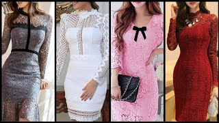 Glamorous Hollywood Style Party Wear Lace Bodycone Dress Homecoming Lace Dress Designs