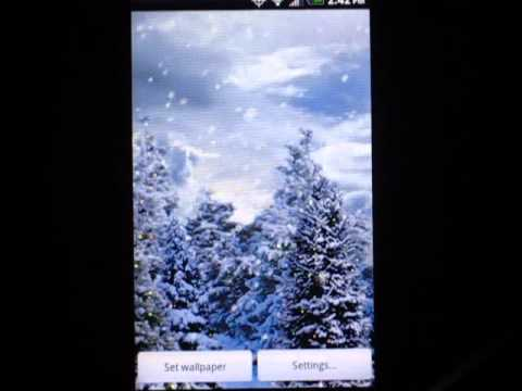Video of Snowfall Free Live Wallpaper