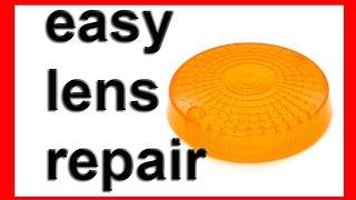 how to repair broken or cracked plastic turn signal indicator lens