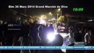 preview picture of video 'incendie du grand marche de divo Dim 03 Mars 2014 par SIBI Aboubakar  BOB'