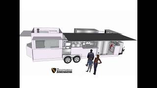 Layout Design For California Food Concession Trailer