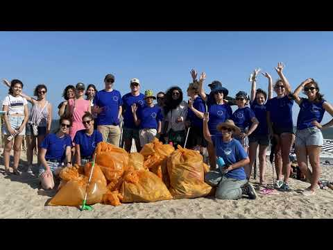 We went on a Beach Clean-up