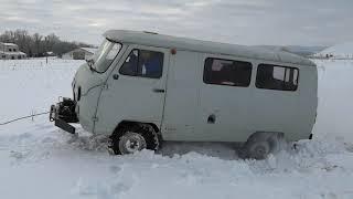 Буханыч, УАЗ 452, по снегу  На 31 Forward Safari 500