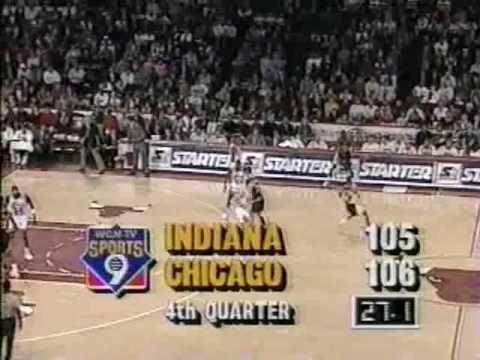 Michael Jordan Game Saving Block on Reggie Miller