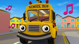 The Wheels On The Bus Go Round And Round Song   Geckos Garage   Nursery Rhymes & Kids Songs