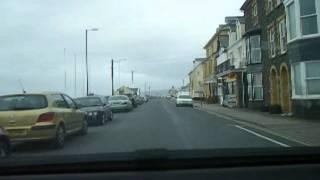Borth dashcam. Drive right through Borth to Ynyslas, Mid Wales Ceredigion 10th March 2007