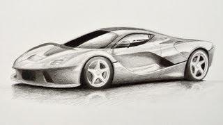 Смотреть онлайн Как нарисовать гоночную машину карандашом