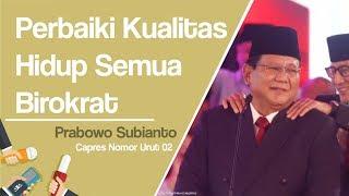 Debat Capres Cawapres, Prabowo Janji Naikkan Gaji Semua Birokrat