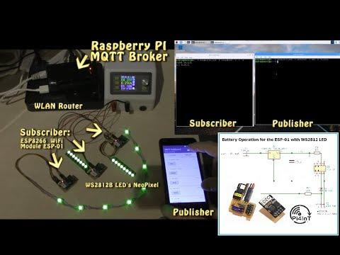 ESP8266 + Neopixel Wedding Lights controlled via a PI