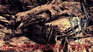 Чужие в Skyrim (TES 5: Skyrim ALIENS mod)