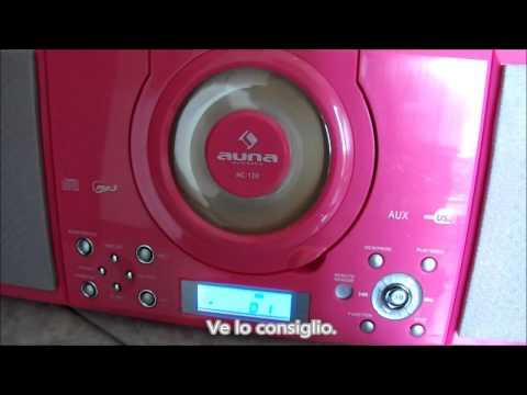 Mini impianto stereo Hi Fi con lettore CD MP3, ingresso USB, AUX, radiosveglia MC-120 Auna