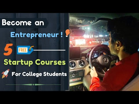 5 Free Online Courses for Startup - Entrepreneurship | Best Startup courses for College students 🔥