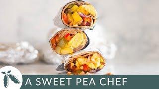 Frozen Breakfast Burritos | Healthy Make Ahead Breakfast! | A Sweet Pea Chef
