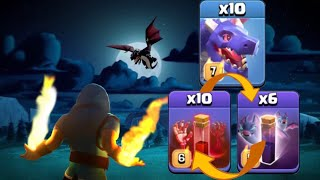 Th12 Dragons With Skeleton Spells And Bat Spells - Strategy Guide For Th12 Dragbat Attack Strategy