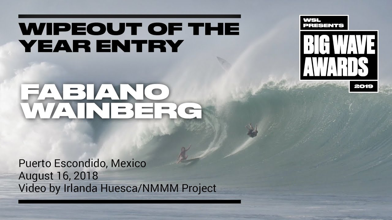 Fabiano Wainberg at Puerto 4 - 2019 Wipeout of the Year Entry - WSL Big Wave Award