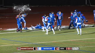 Highlights and interviews: Waterford 10, Granby/Canton 6 in Class M football quarterfinal