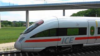 VDE8.1🚆Verbindungskurve nach Coburg mit ICE-T Doppel als ICE1706 nach Berlin + RB24 agilis BR650