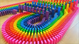 SATISFYING Rainbow Dominoes!