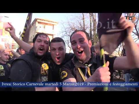 Preview video Ivrea  Storico Carnevale martedì 5 marzo 2019   Premiazioni e festeggiamenti