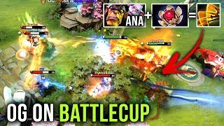 OG.Ana First Time on Battlecup with Team OG - EPIC Rampage with Alchemist, Lotus Orb Omnislash Play!