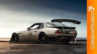 Porsche 944 Virtual Tuning  - Speed art (#Photoshop)   CreativeStation