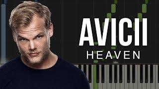 Heaven   Avicii | Piano Tutorial & Sheet
