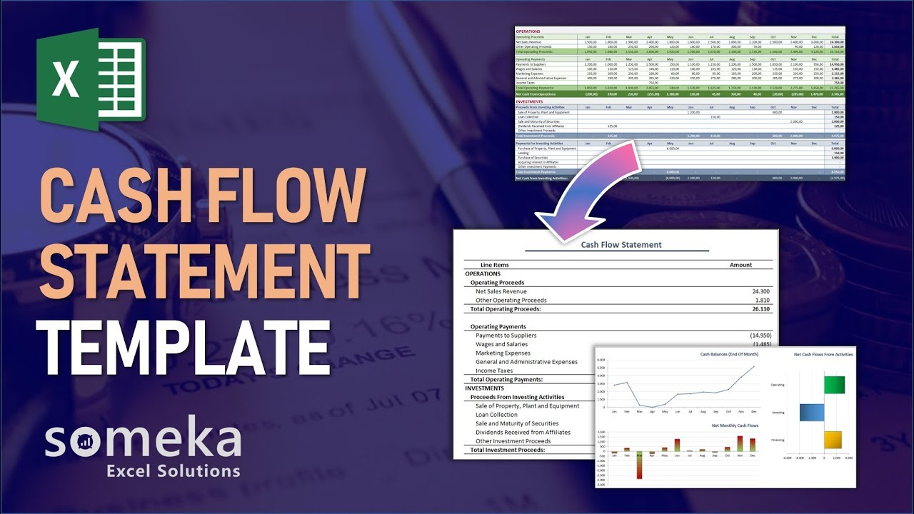 Cash Flow Statement - Someka Excel Template Video