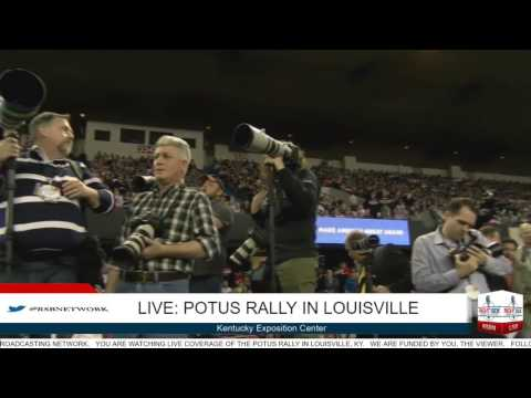 President Trump PACKS the house in Louisville, KY 3/20/17
